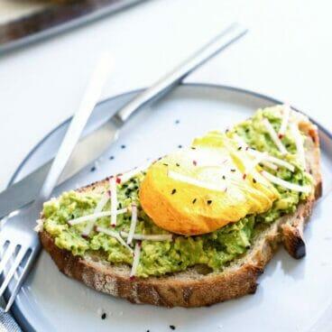 Turmeric Poached Egg Avocado Toast | A Couple Cooks