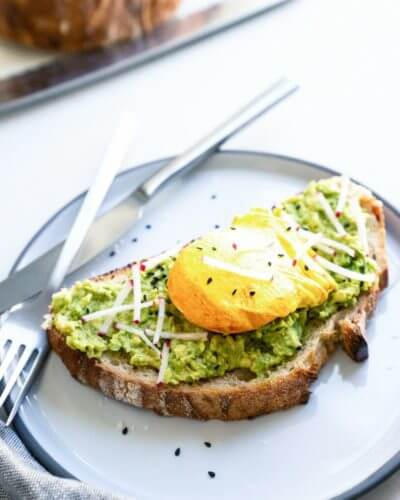 Turmeric Poached Egg Avocado Toast | A Couple Cooks
