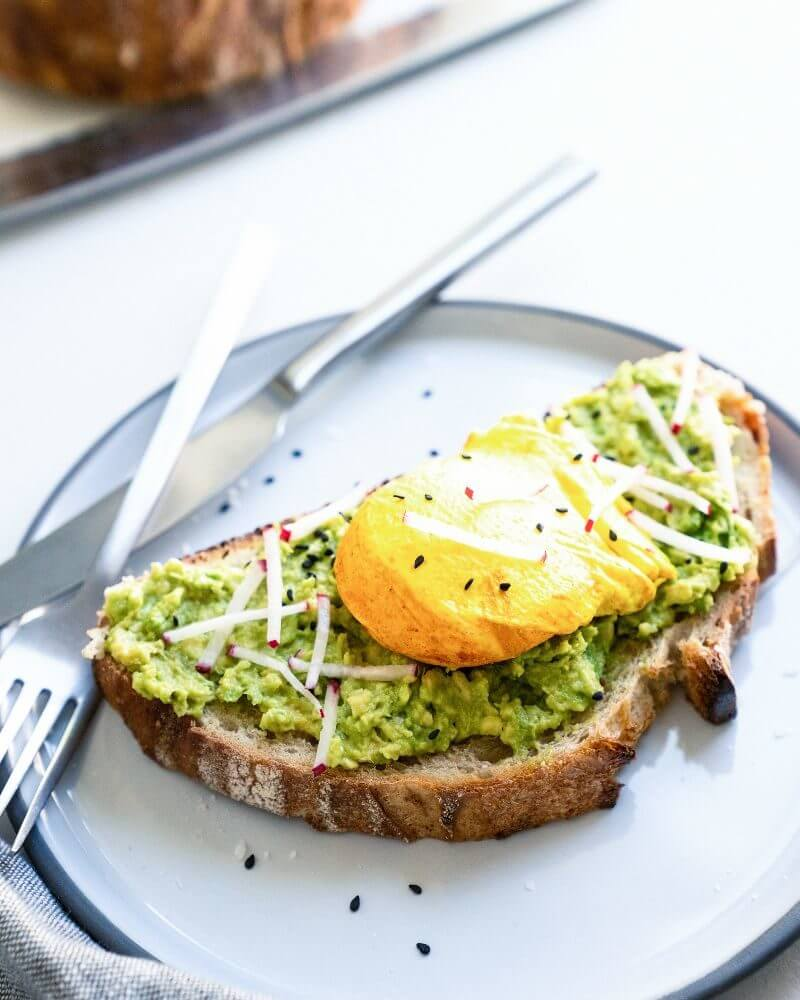 Avocado Toast with Egg | Turmeric eggs