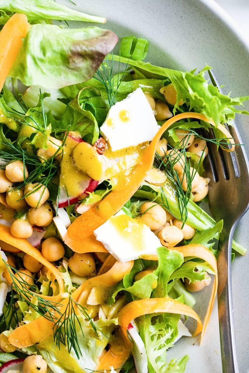 California Salad with Avocado Oil Vinaigrette | A Couple Cooks