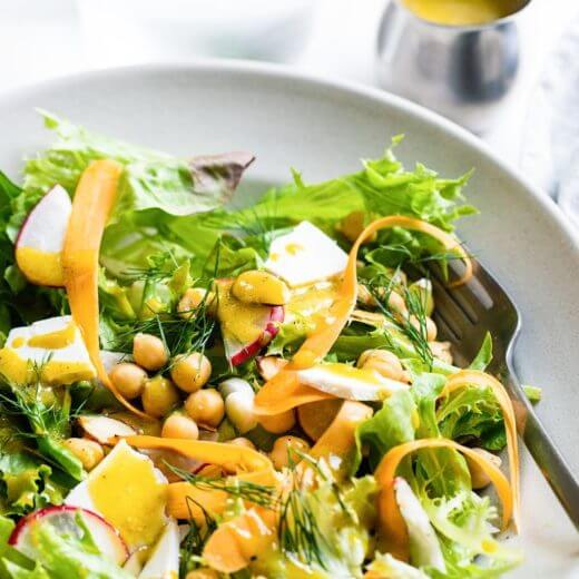 California Salad with Avocado Oil Vinaigrette | A Couple Cooks