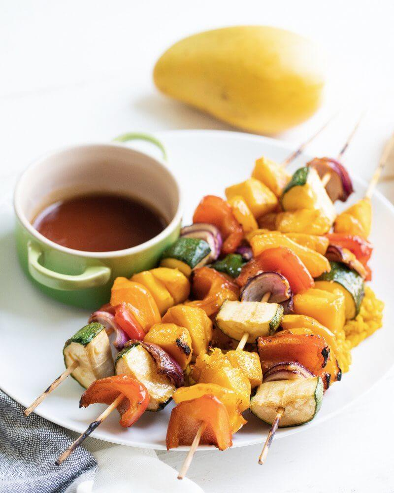 Grilled Teriyaki Mango Skewers