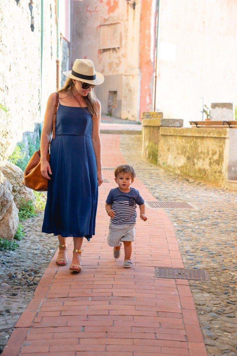 Traveling with a Toddler | Walking in Tellaro Italy