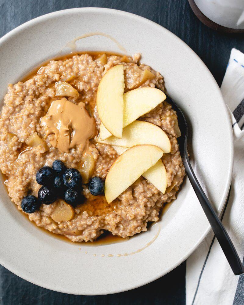 Apple Cinnamon Pressure Cooker Steel Cut Oats | A Couple Cooks