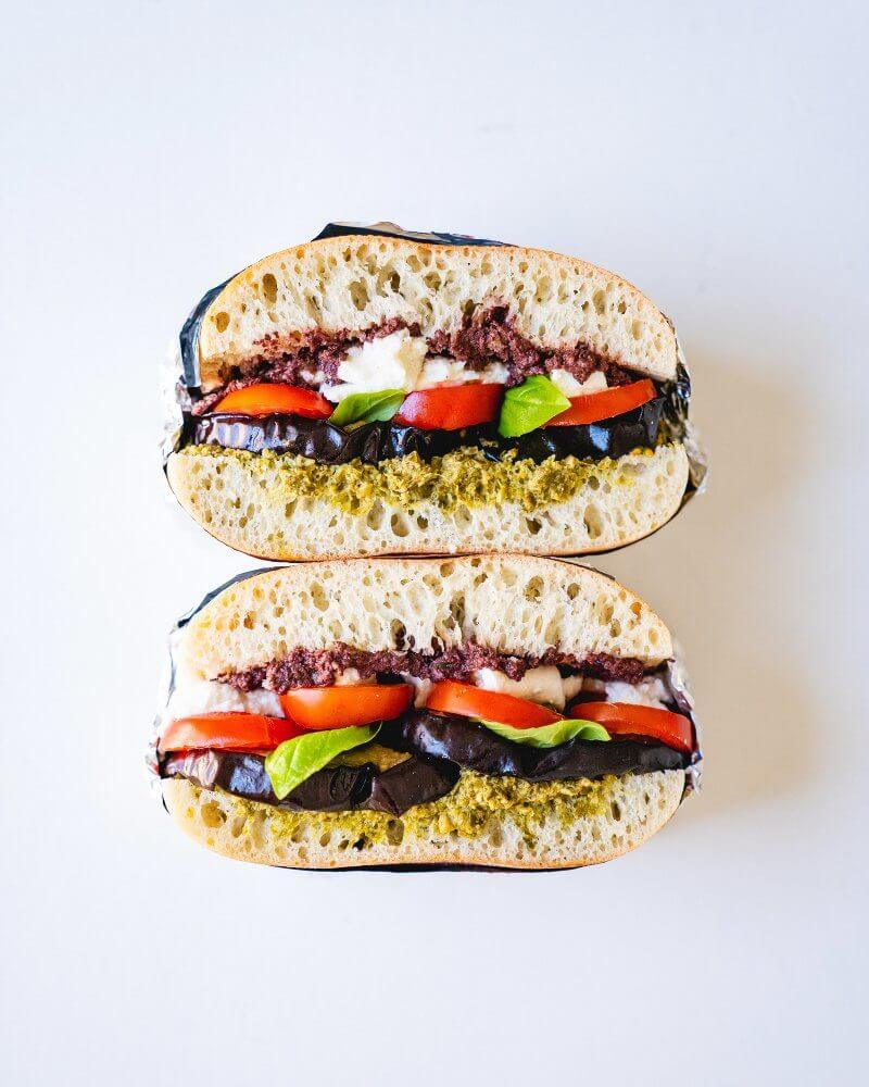 Tomato & Eggplant Sandwich | A Couple Cooks