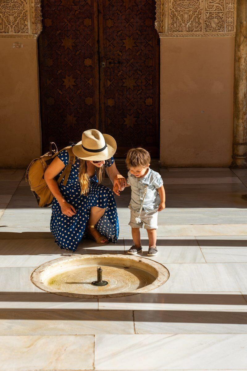 Traveling with a Toddler | La Alhambra with kids