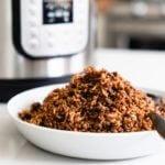 Smoky Instant Pot Lentils and Rice (Pressure Cooker) | A Couple Cooks