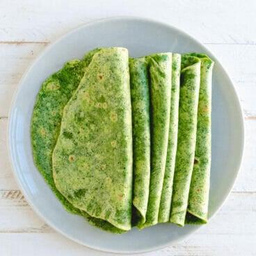 Homemade spinach tortillas | healthy tortilla recipe | spinach tortilla