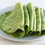 Homemade spinach tortillas | healthy tortilla recipe | spinach tortilla