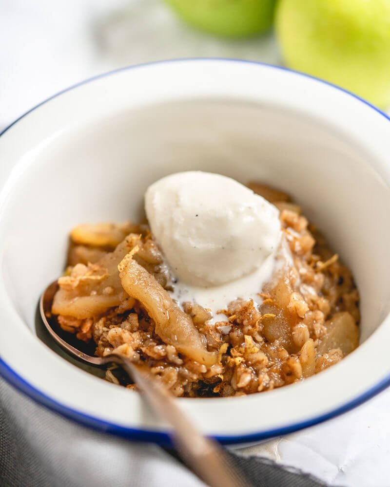 Instant Pot apple crisp with granola