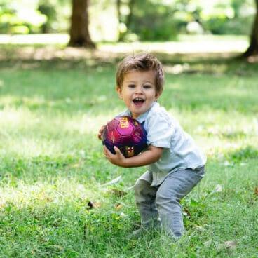 Organic fields, non toxic fields, StonyFields, Boy with ball