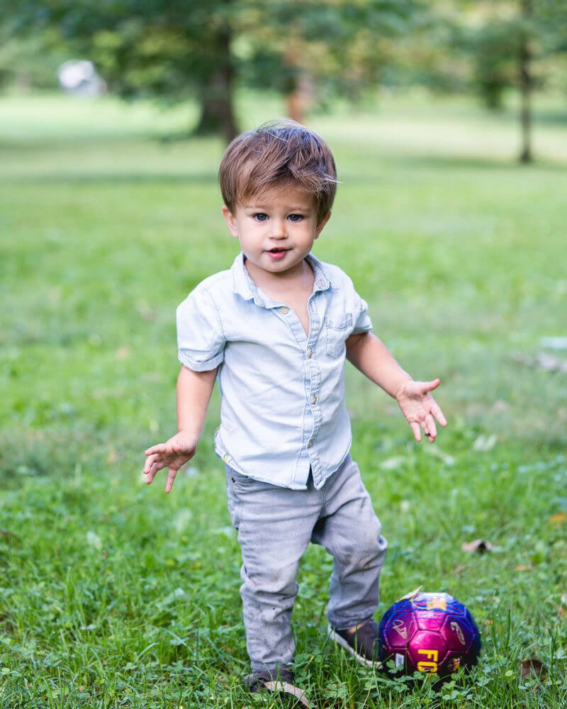 Organic fields, non toxic fields, StonyFields, Boy with ball