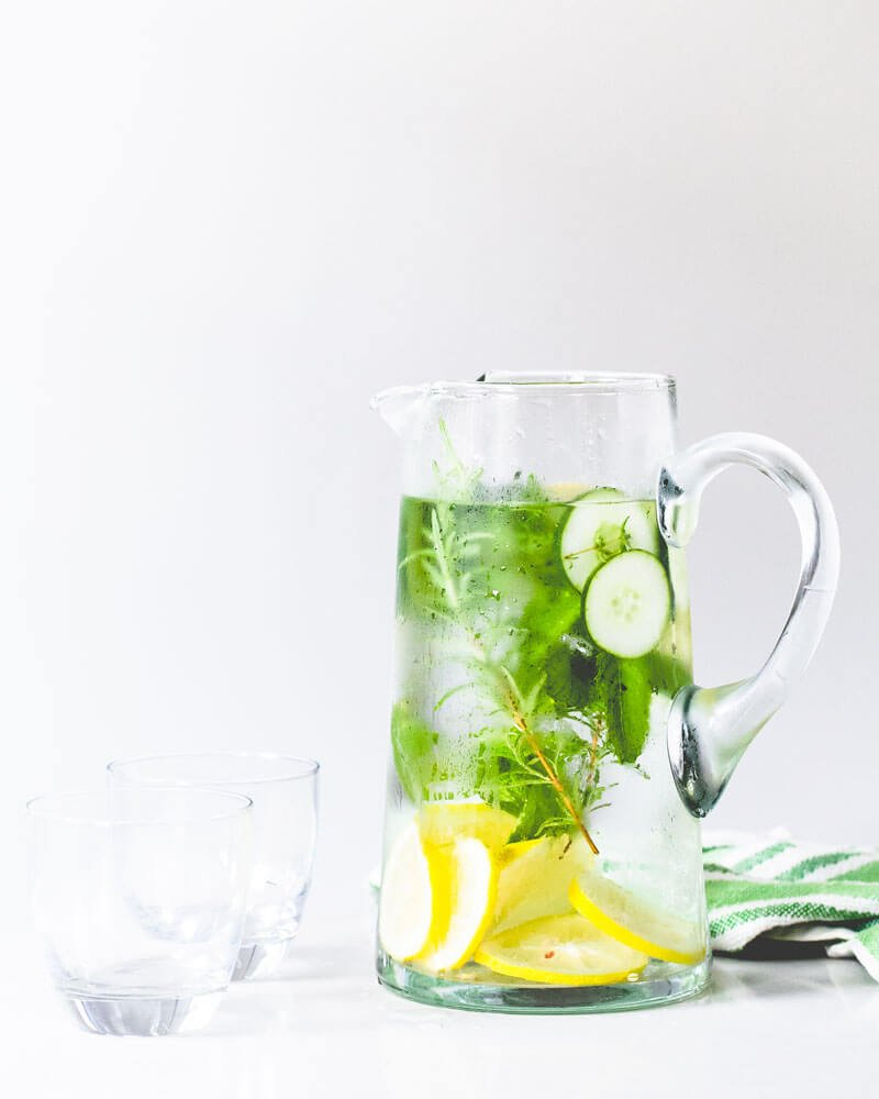 Lemon Herb Cucumber Water Recipe
