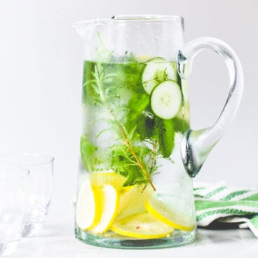 Lemon Herb Cucumber Water Recipe