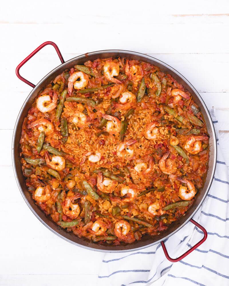 Open fire seafood paella recipe | paella de mariscos