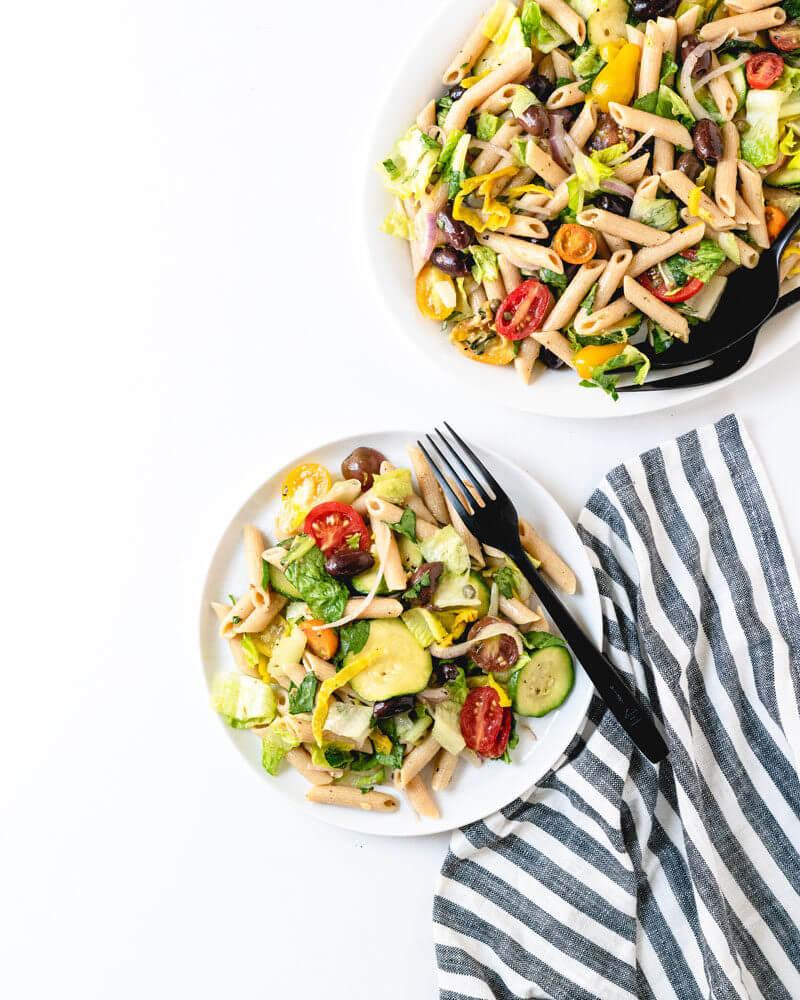Italian pasta salad | vegan pasta salad