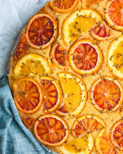 cornmeal cake | orange cake recipe | orange upside down cake | orange cornmeal cake