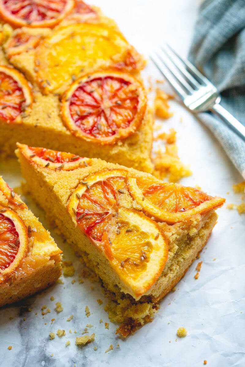 Orange cornmeal dessert