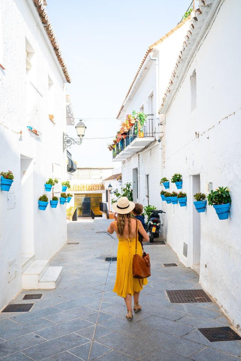 Spain travel | Mijas Spain | Woman in Spain | Yellow dress