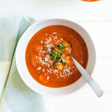 Tomato basil gnocchi soup recipe