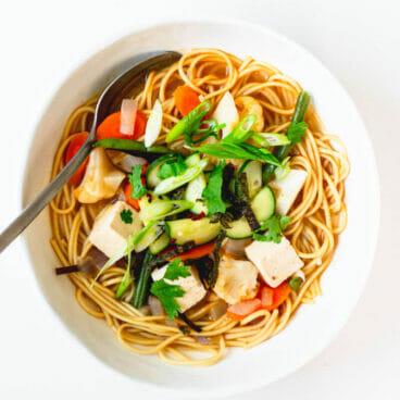 Korean ramen recipe | Vegetarian ramen broth