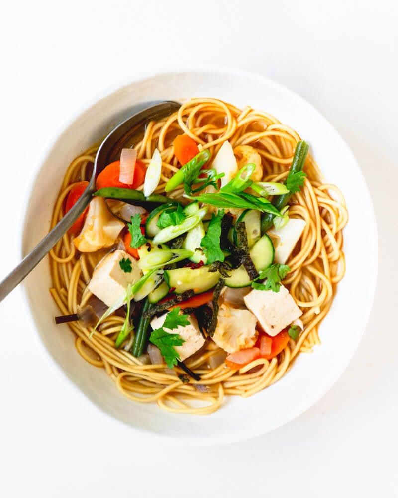 Korean ramen recipe   28 Day Vegan Meal Plan   Easy vegan meals   Meal planning ideas   Meal prep plans   Meal planning calendar
