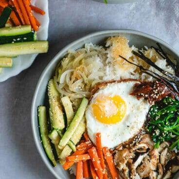 dolsot bibimbap |dolsot pan |how to make bibimbap |vegetarian bibimbap