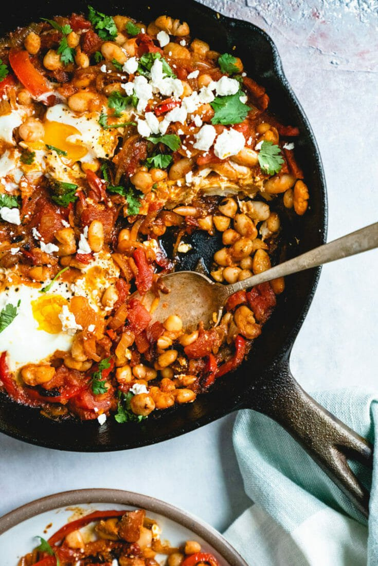 Shakshuka with Feta & White Beans