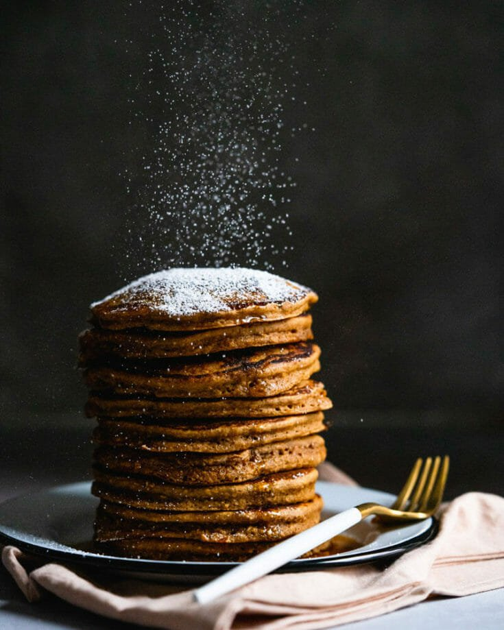 Gingerbread Oatmeal Pancakes