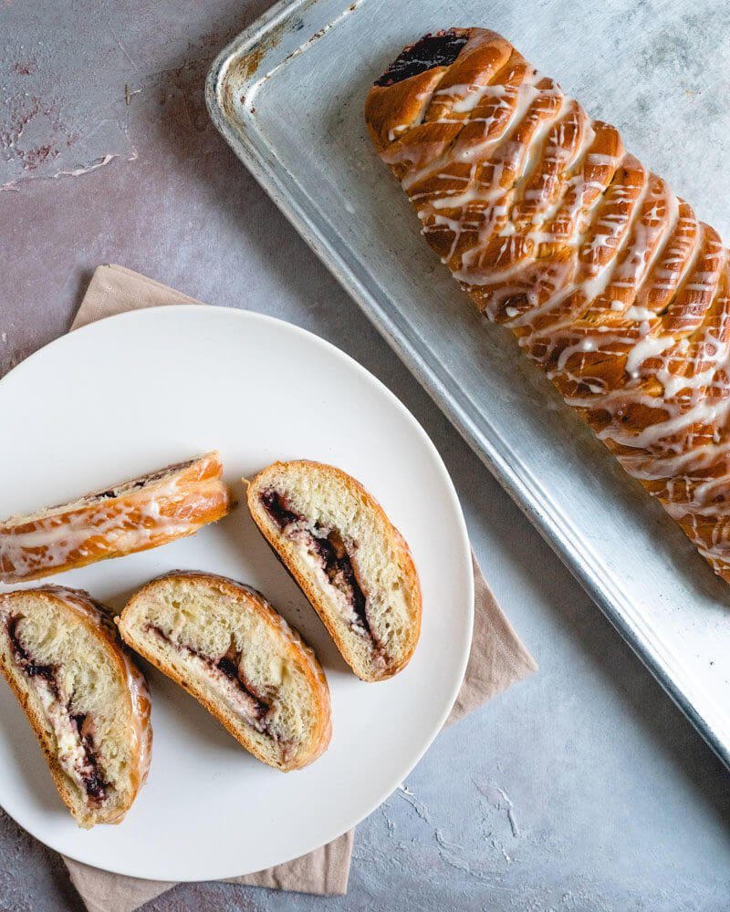 Raspberry braided bread recipe | How to braid bread | Braided bread with filling | Braided sweet bread