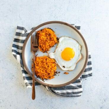 Sweet potato hash browns | Healthy breakfast