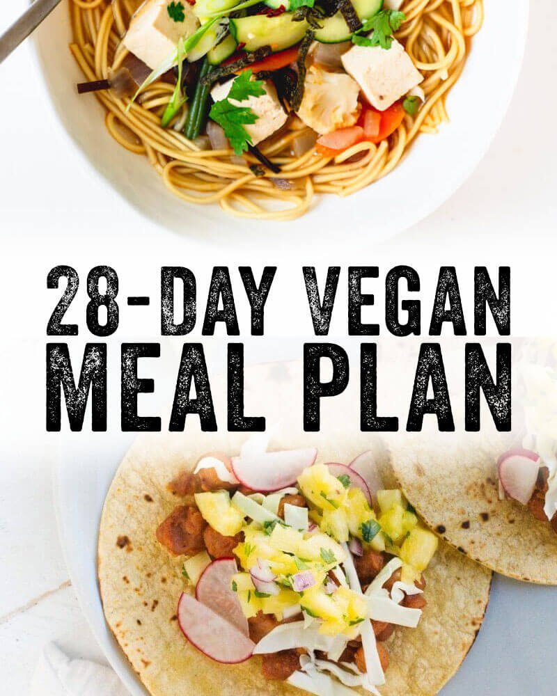 28 Day Vegan Meal Plan – A Couple Cooks