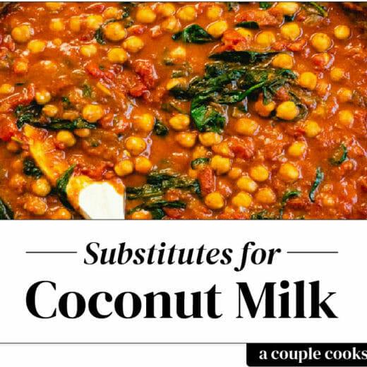 Substitute for coconut milk