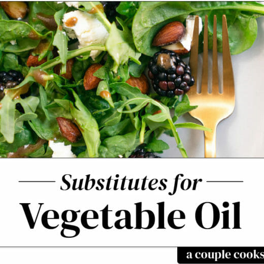 Substitute for vegetable oil