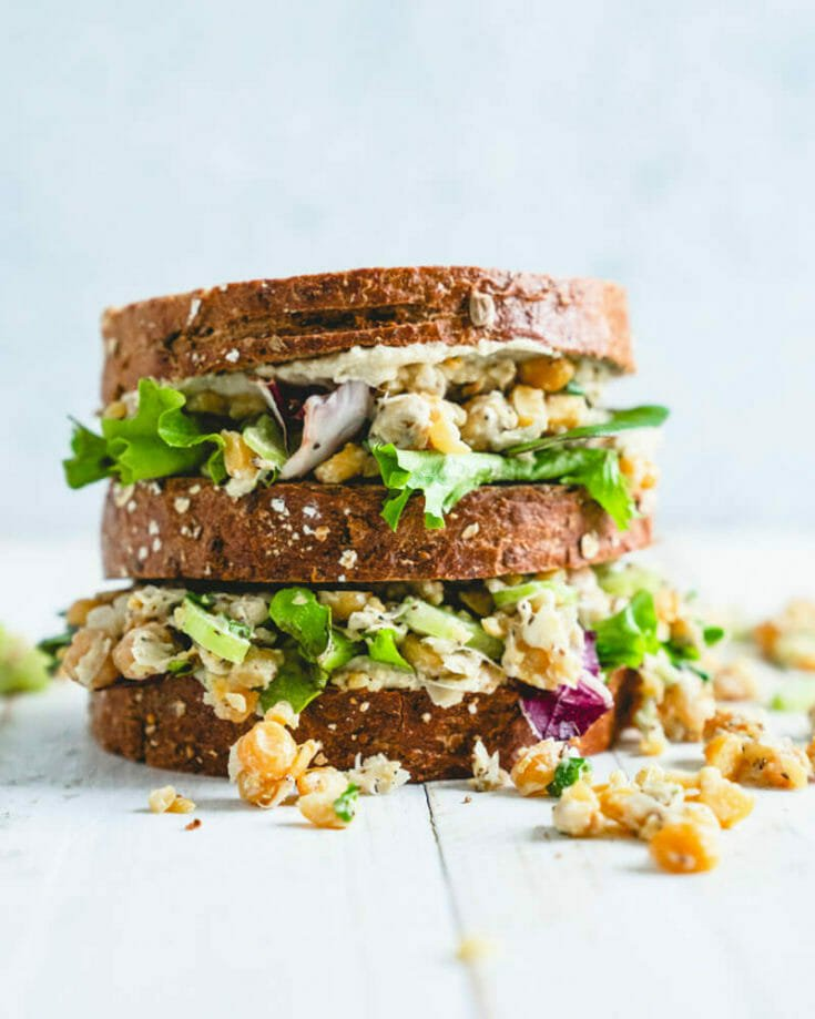 Easy Chickpea Salad Sandwich