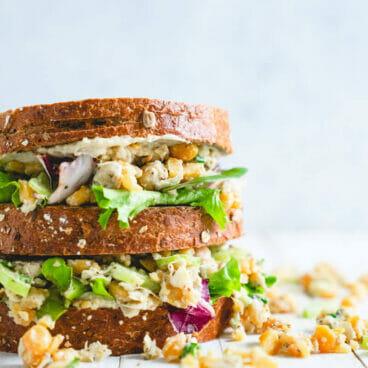 Chickpea salad sandwich   Vegetarian chicken salad sandwich   Easy lunch recipes