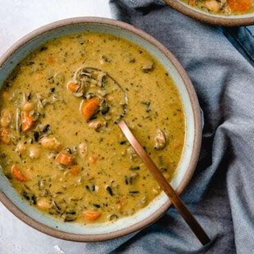 Wild Rice Soup Recipe | Instant Pot Wild Rice Soup | Wild rice mushroom soup