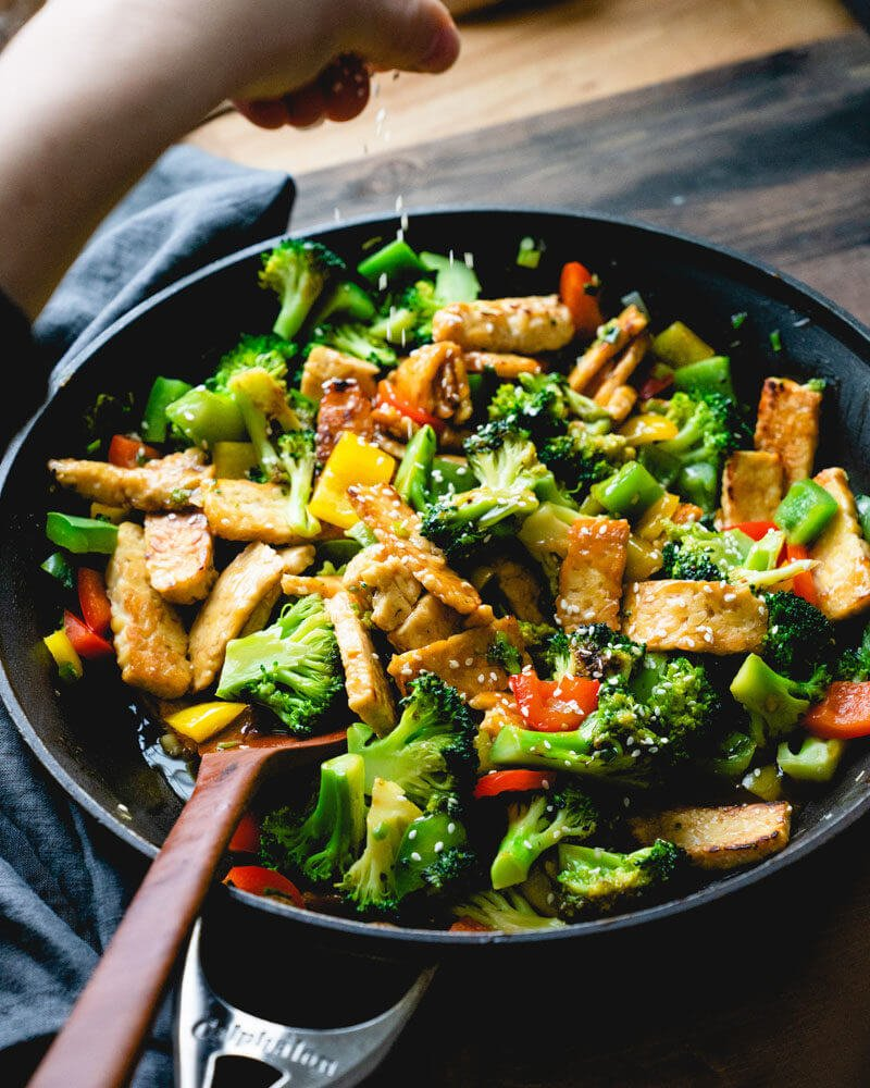 Best stir fry vegetables | Teriyaki vegetables | Tempeh stir fry