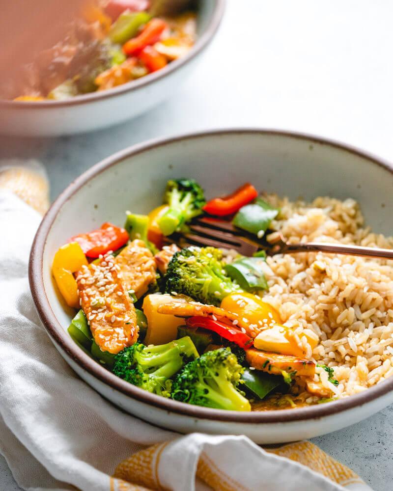 Best stir fry vegetables | Teriyaki vegetables | Tempeh stir fry