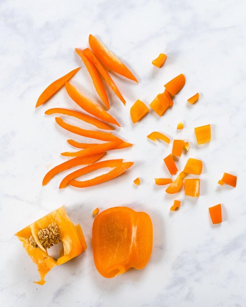 Basic Knife Skills: How To Cut A Bell Pepper
