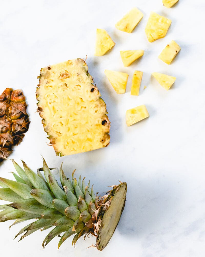 Basic Knife Skills: How To Cut A Pineapple (Easy & Quick!)