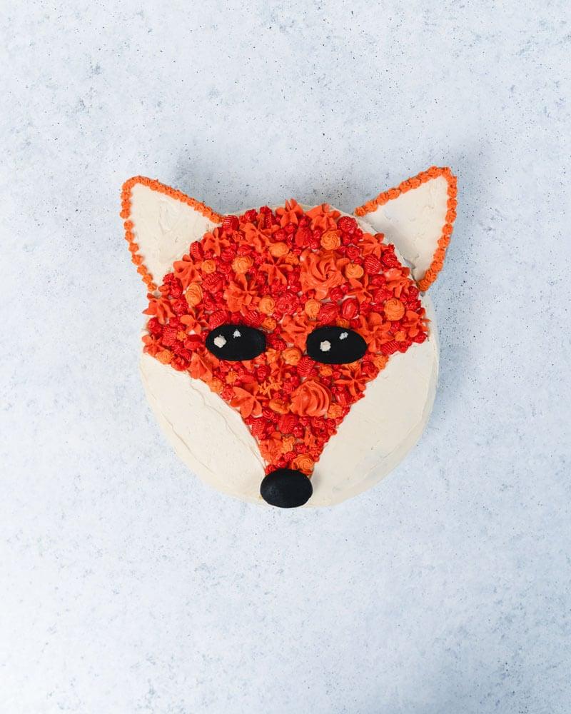 Fox cake | Fox birthday cake | Birthday cake ideas for kids
