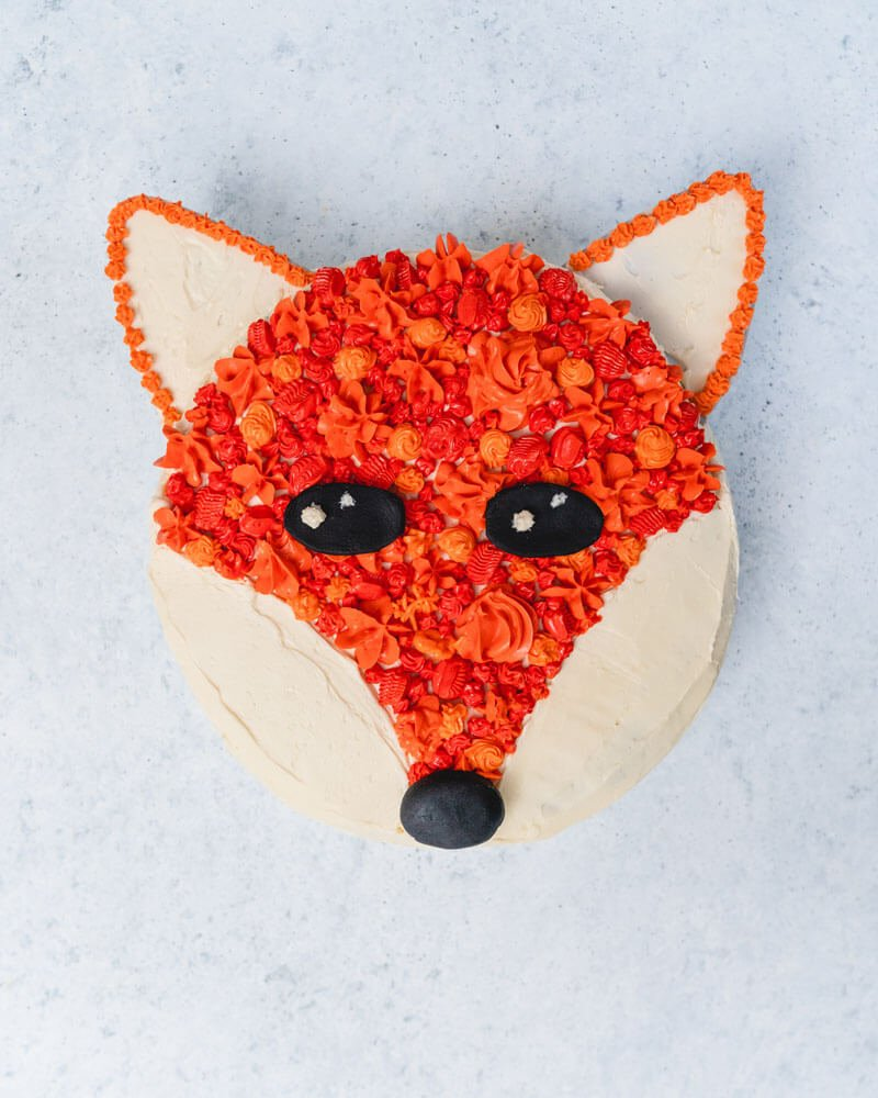 Incredible Fox Cake Recipe A Couple Cooks Personalised Birthday Cards Sponlily Jamesorg