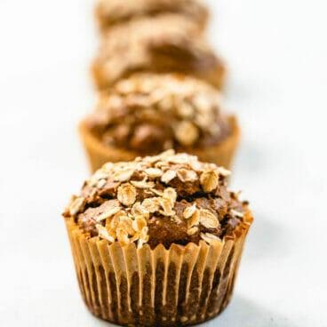 Banana bread muffins | Healthy banana muffins