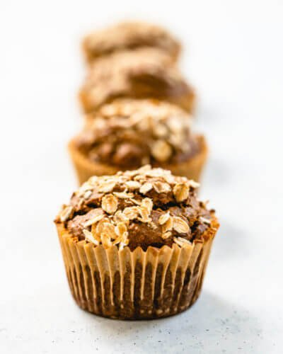 Banana bread muffins | Healthy banana muffins