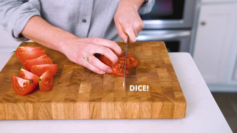 How to Cut a Tomato | Dice the tomato