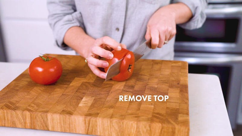 How to Cut a Tomato | Remove the top