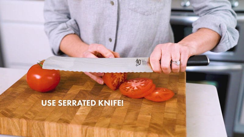 How to Cut a Tomato | Use a serrated knife