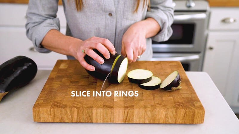 How to Cut Eggplant | Slice into rings