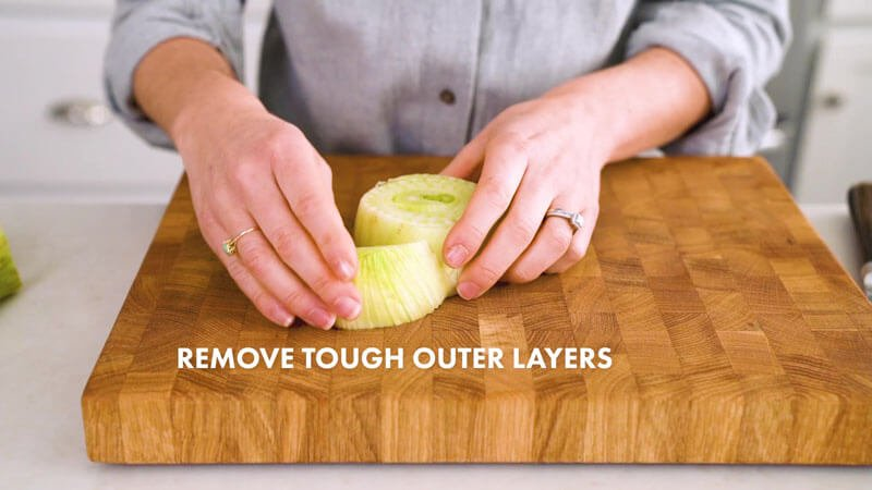 How to Cut Fennel | Remove tough outer layers